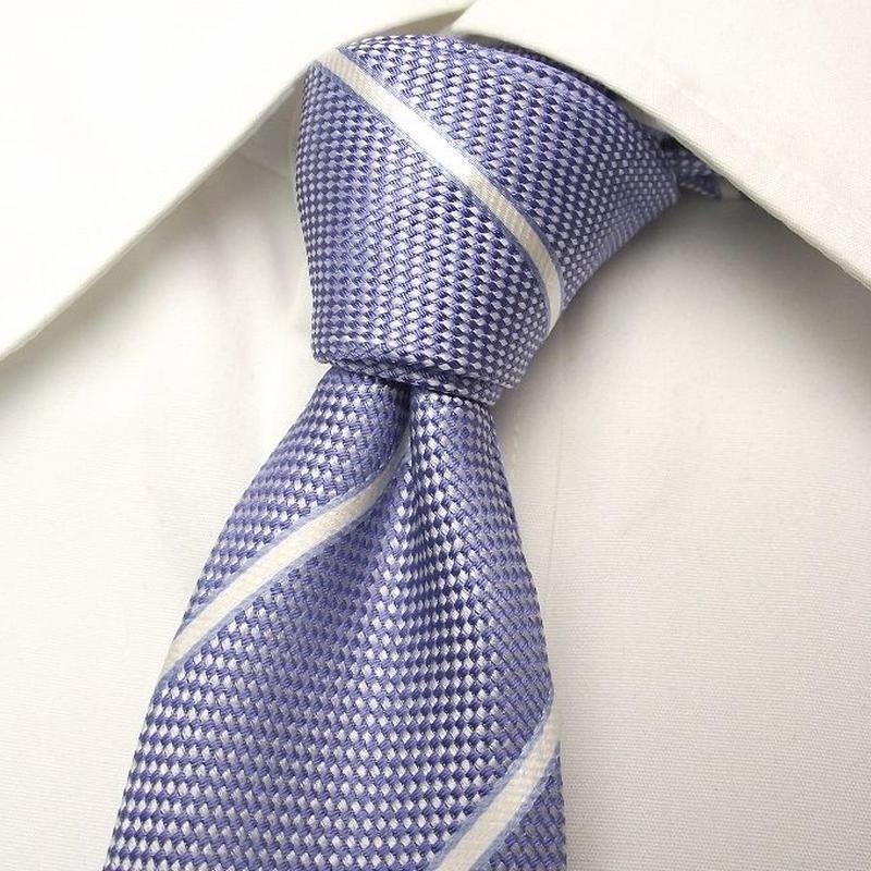 爽やかカラーで印象アップ【新品】MARCCOSTAR|イングッド|光沢ブルー系ネクタイ|USED|0302