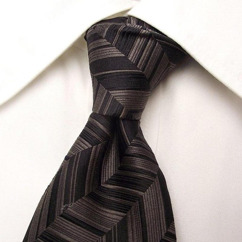 ブラックスーツに◎|WELL PRESENTS|ウェルプレゼンツ|ブラックグレー系ネクタイ|USED|0302
