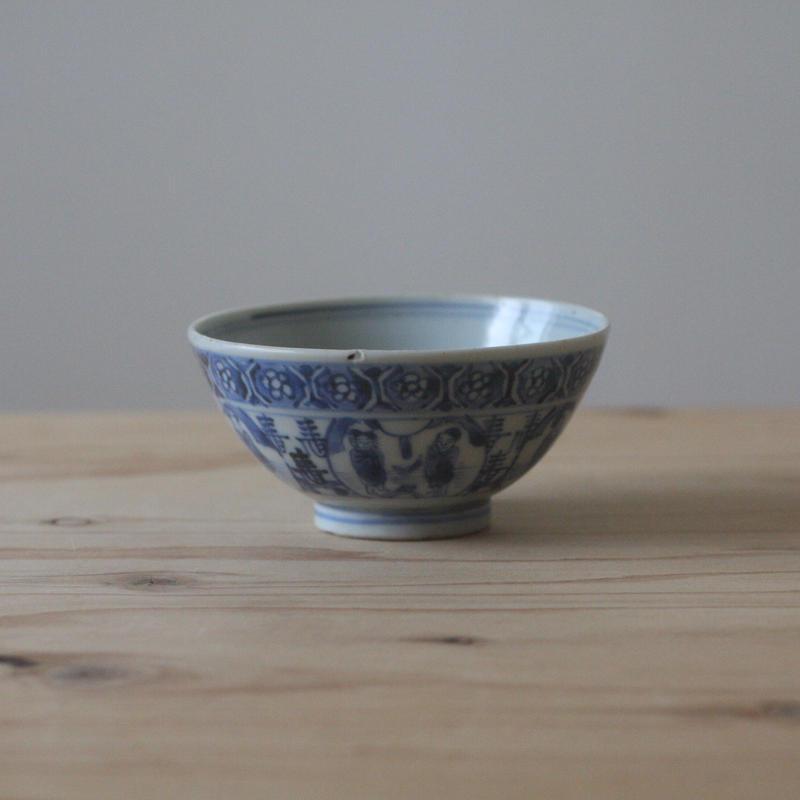 染付の茶碗(唐人)