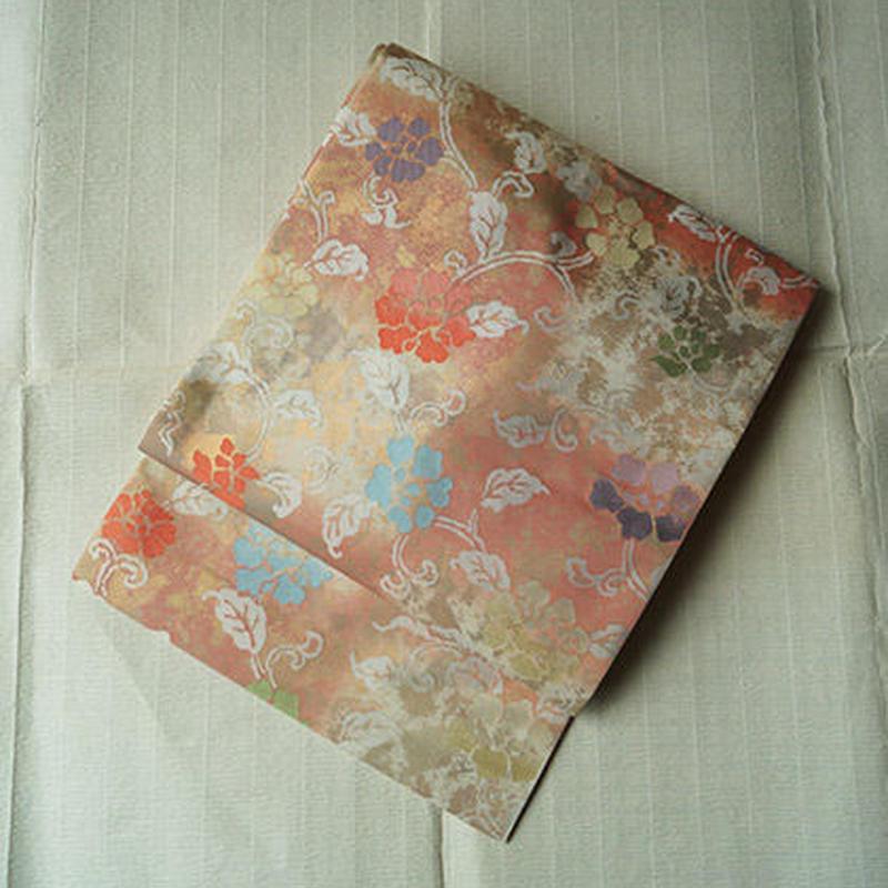 【なごや帯・アウトレット】手織り 名物裂 花唐草柄