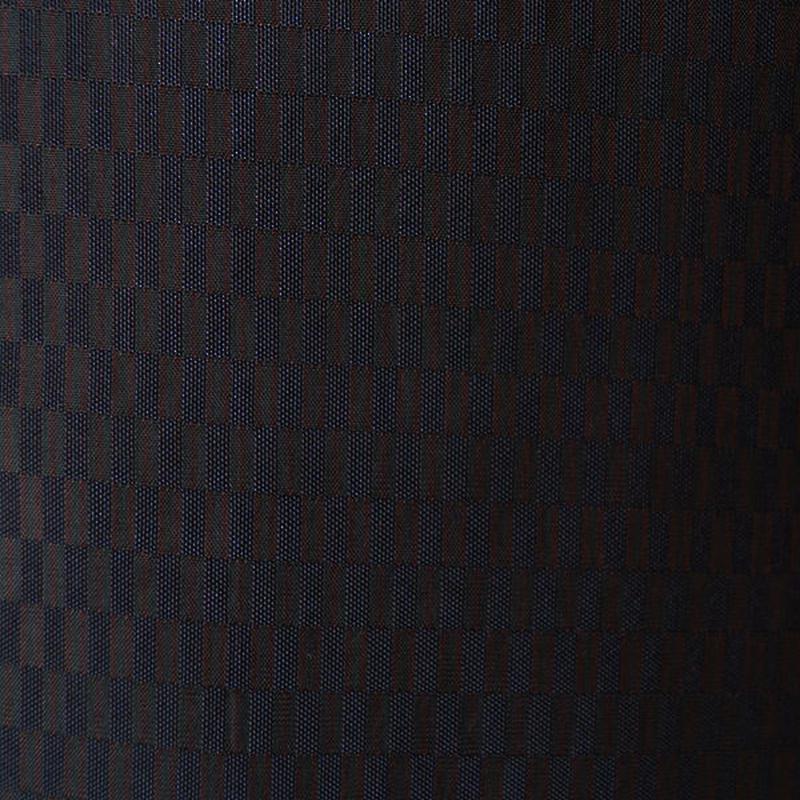 【袷】細縞に変わり市松紬