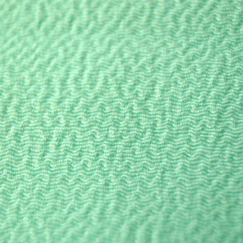 【帯揚げ】薄若緑色 ちりめん  3