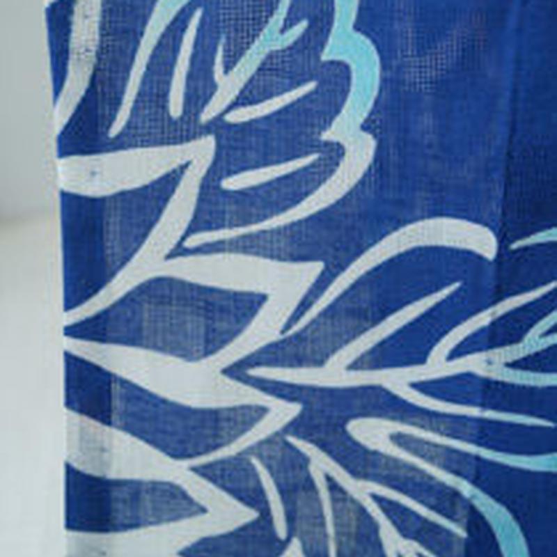 【浴衣】マリンブルー色大輪花文浴衣