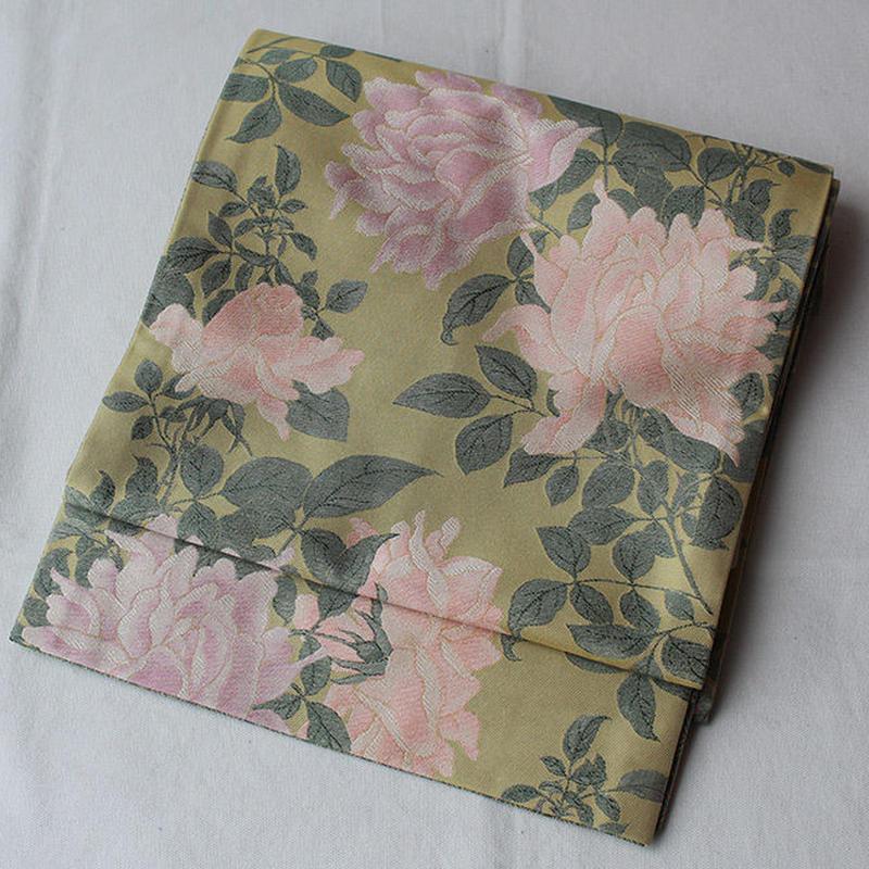 【なごや帯】薔薇図文錦 京袋帯