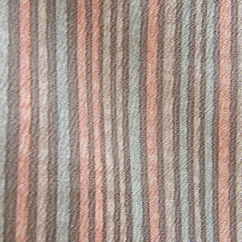 【単衣】薄鼠・虹色・水色系縦縞文小紋