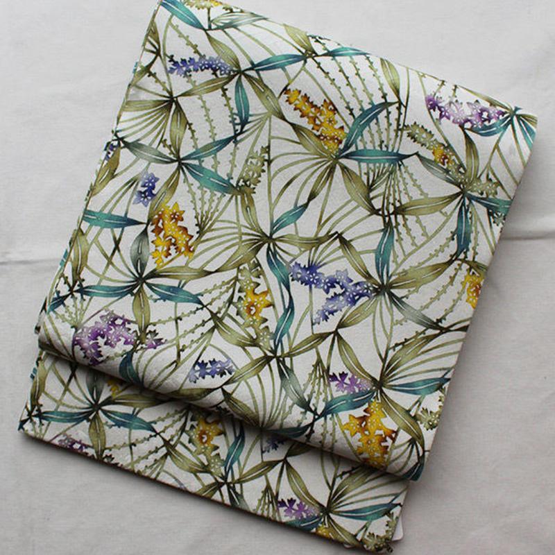 HOLD中・【ふくろ帯】植物文型染ふくろ帯