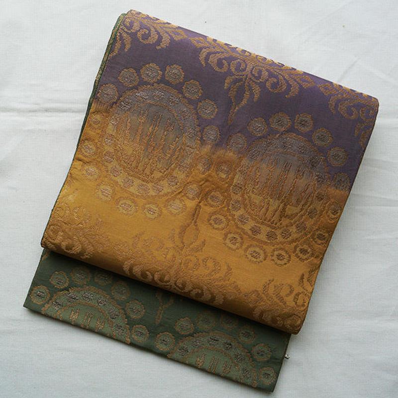 【ふくろ帯】三色暈しにオリエンタル柄袋帯