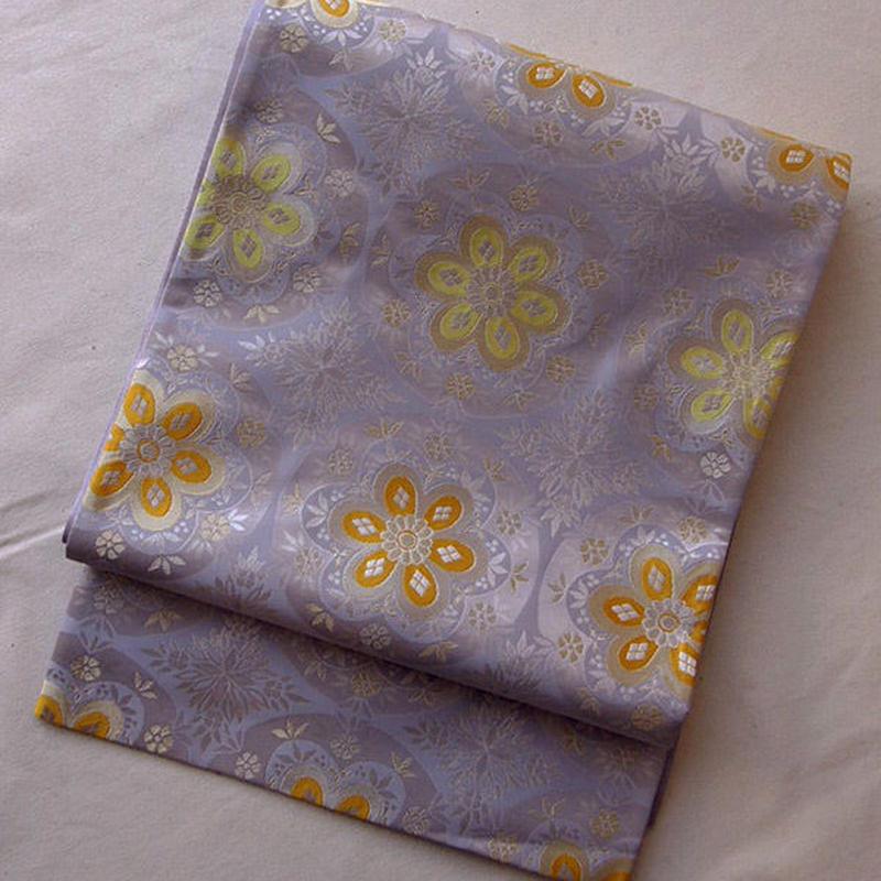 【ふくろ帯】となみ製華丸文袋帯