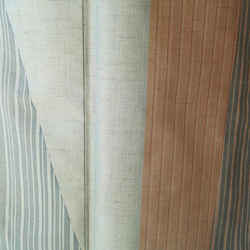 【袷】変わり縞モダン系紬