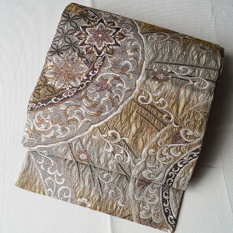 【ふくろ帯】更紗文蘭奢侍袋帯