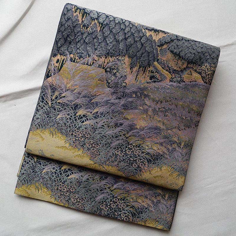【ふくろ帯】紹巴萬葉里村風景袋帯