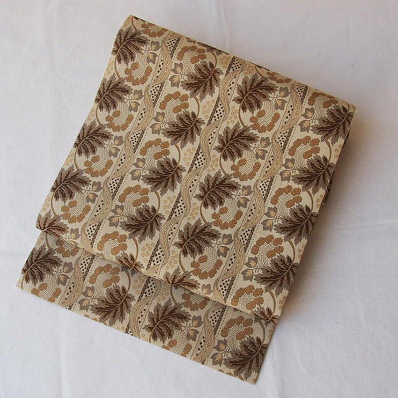 【なごや帯】欧風更紗とリボン文 オリジナル織りなごや帯