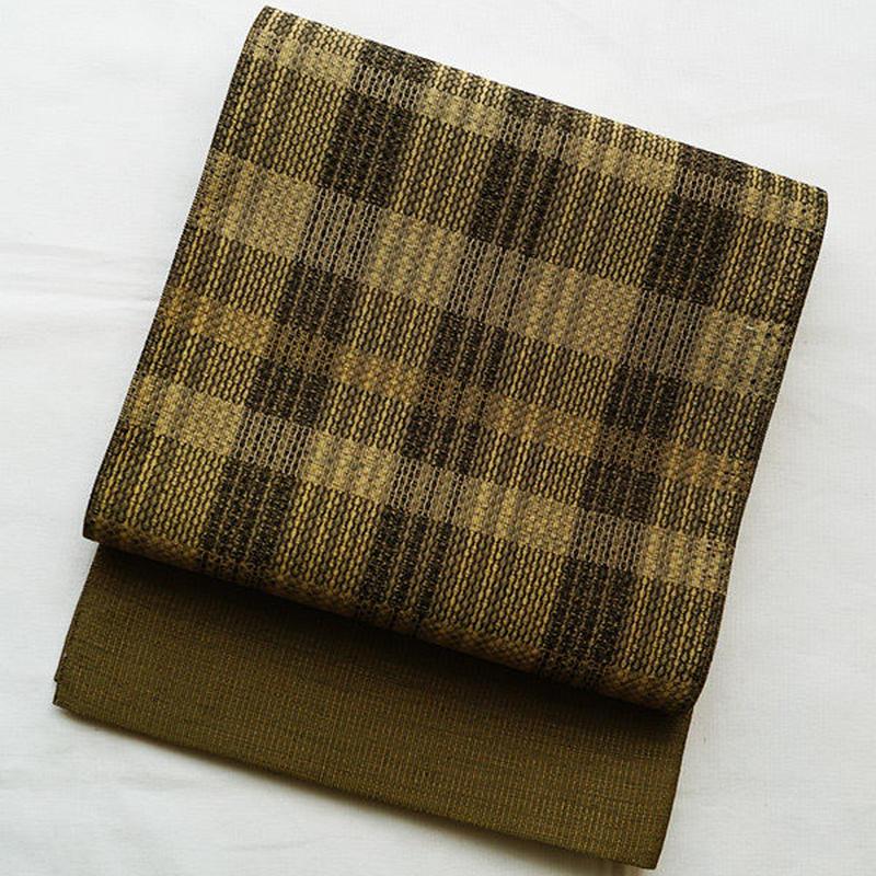 【ふくろ帯】西陣しょうざん製格子柄袋帯
