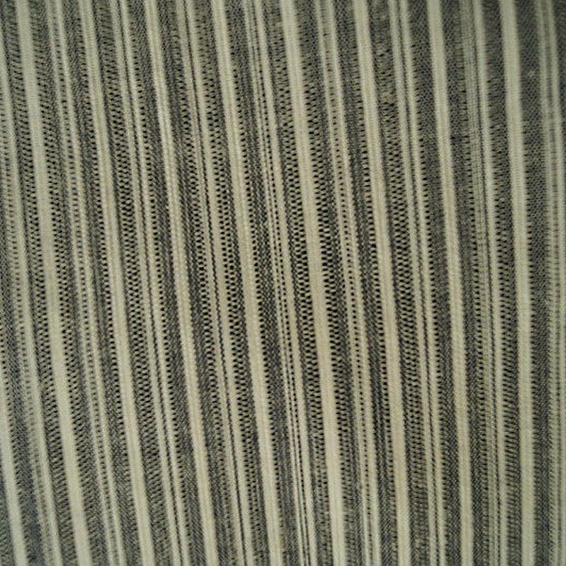 【浴衣】銀鼠色×白・たて縞文 浴衣