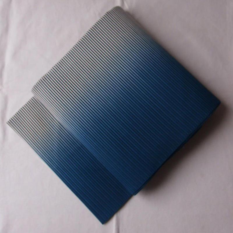 【夏なごや帯】生成り×藍色暈し 絽綴れ なごや帯
