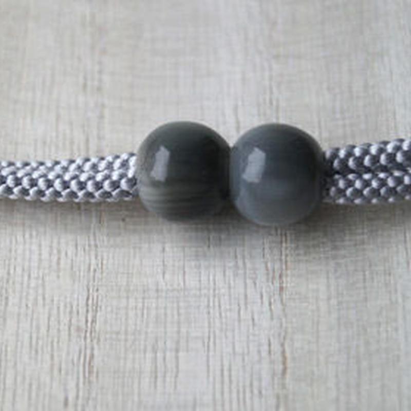 【羽織紐】マグネット式羽織紐 グレー