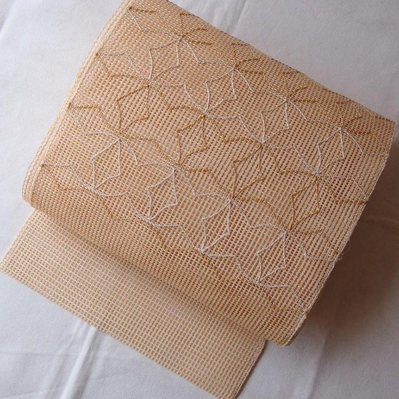 HOLD中・【夏なごや帯】羅 幾何学華文 なごや帯