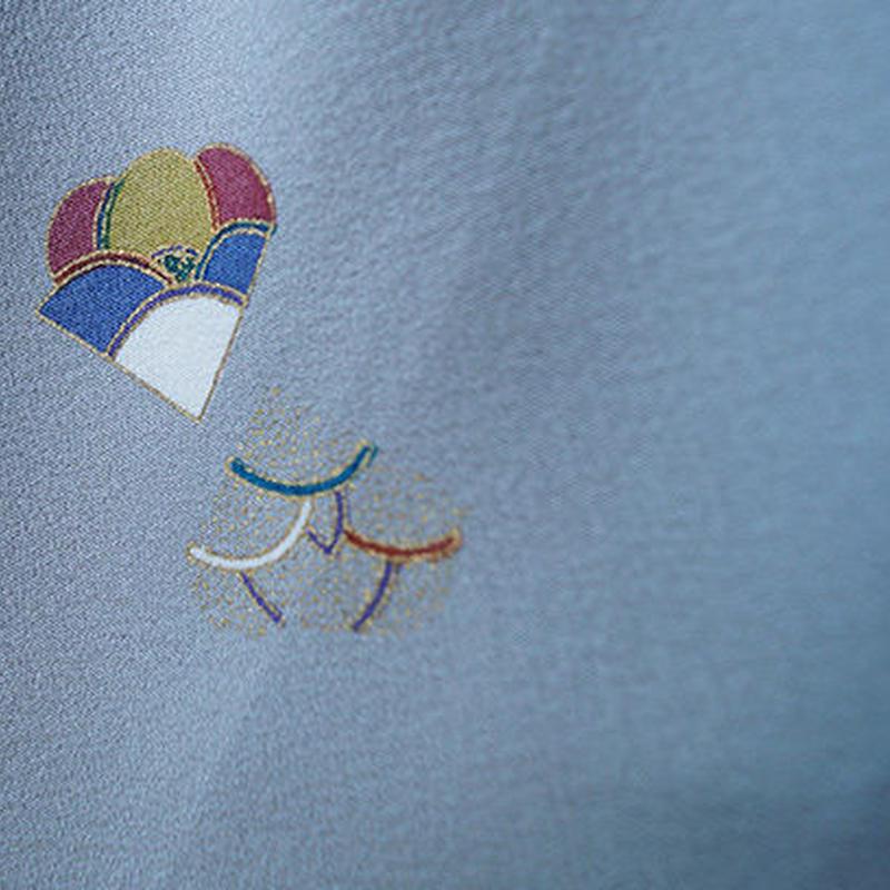 【袷】きりとり花弁オトナの小紋