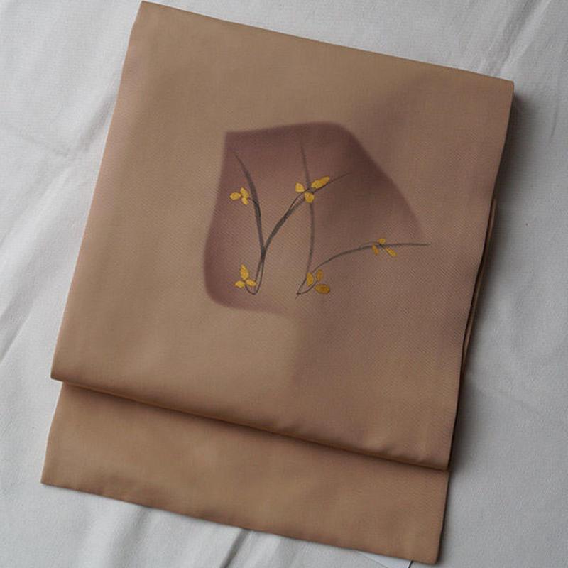 【なごや帯】抽象化花文塩瀬なごや帯