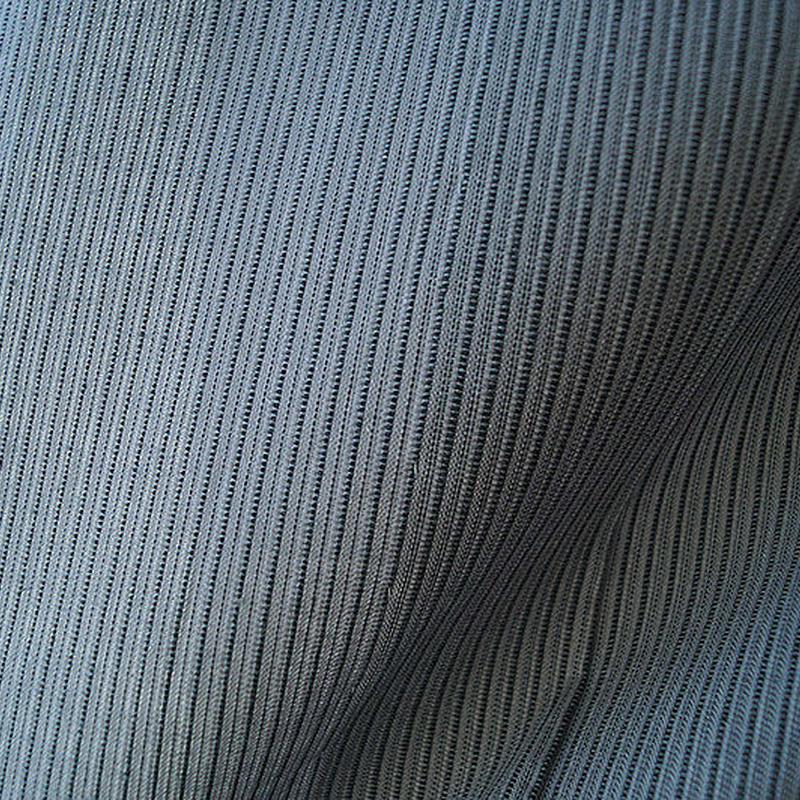 【浴衣】湊鼠色 細縞文 浴衣
