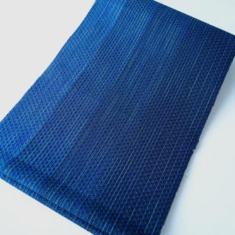 【夏なごや帯】黒とブルーのグラデーション 羅 名古屋帯