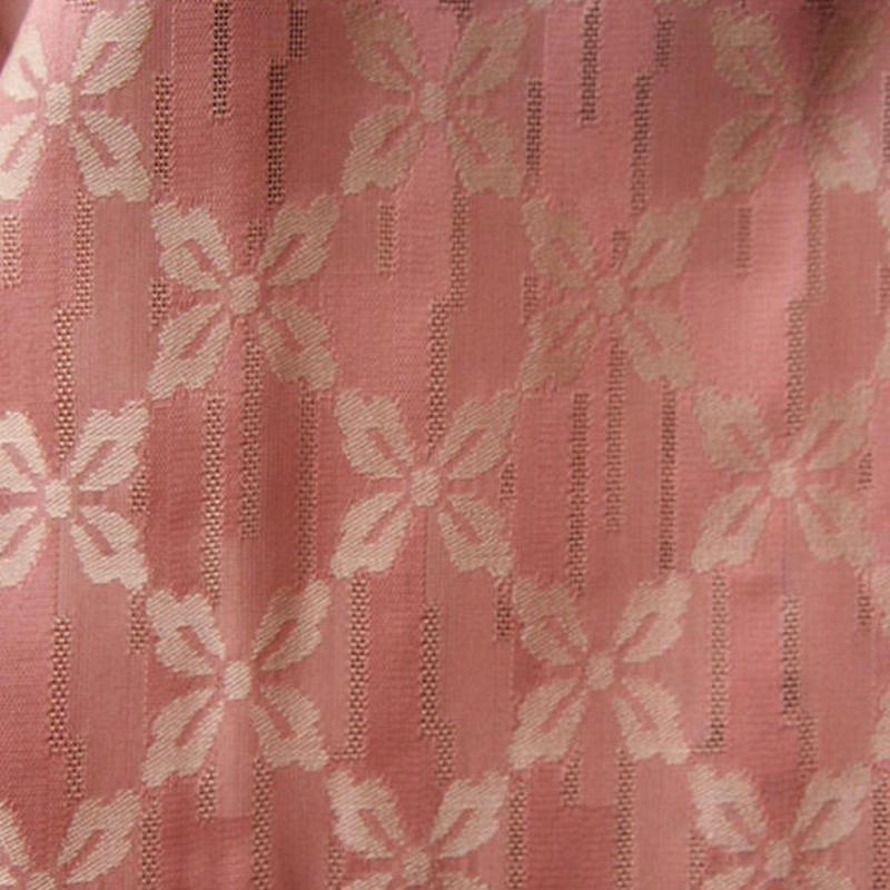 【紗羽織】桃色地花菱繋ぎ柄紗羽織
