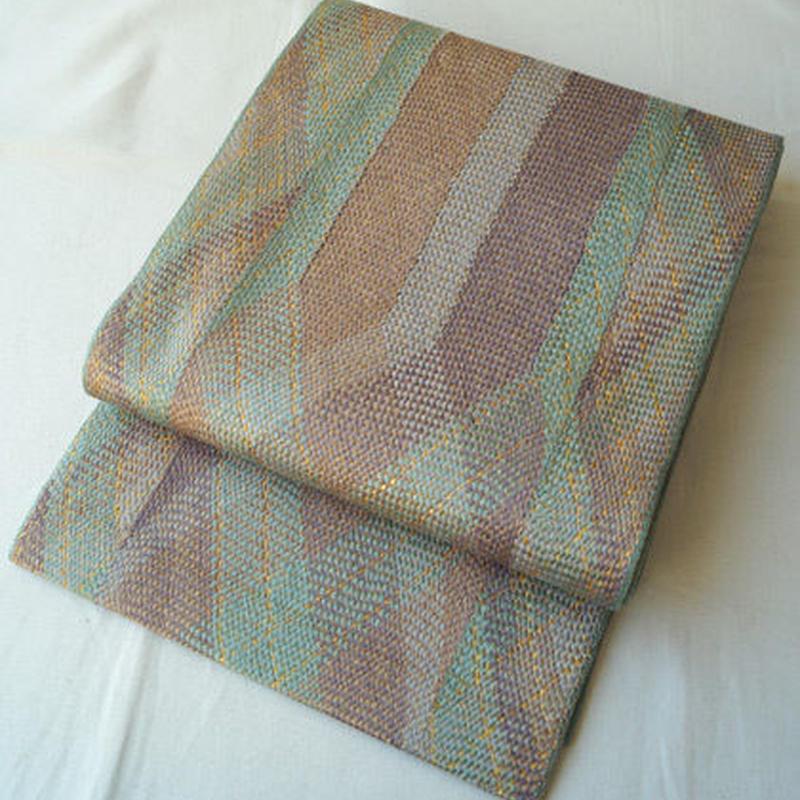 【ふくろ帯】組み織・金糸使いななめ暈しふくろ帯