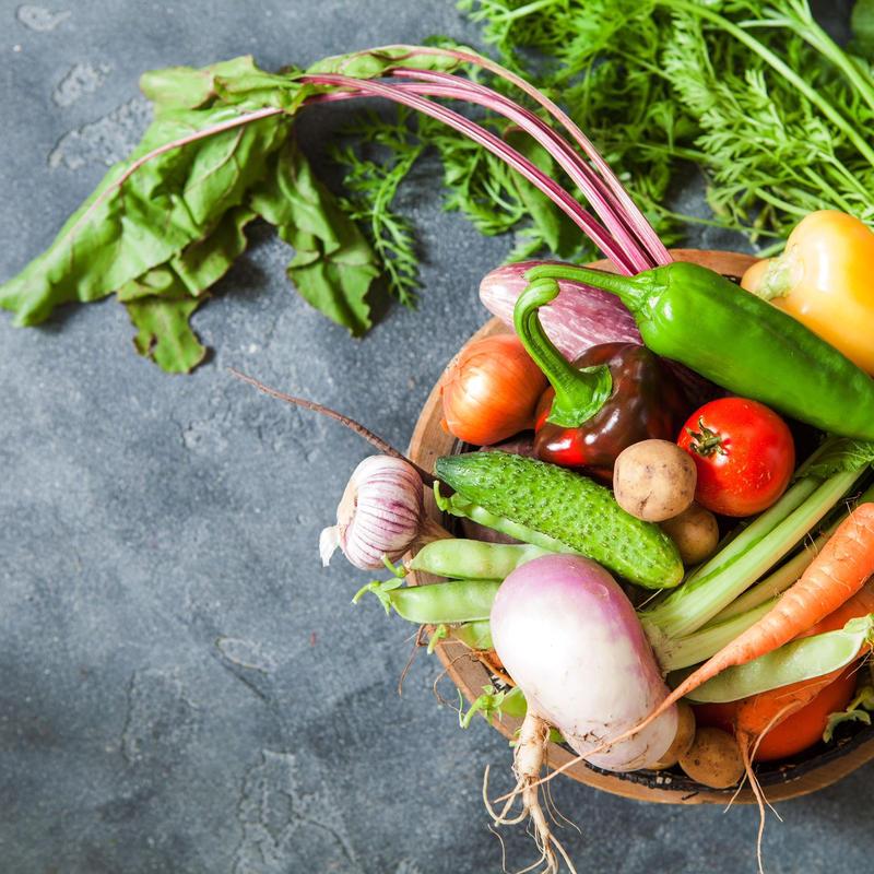 徳島産「自然栽培」&「Organic」おまかせ旬の野菜セット Mサイズ5.5㎏(クール便)