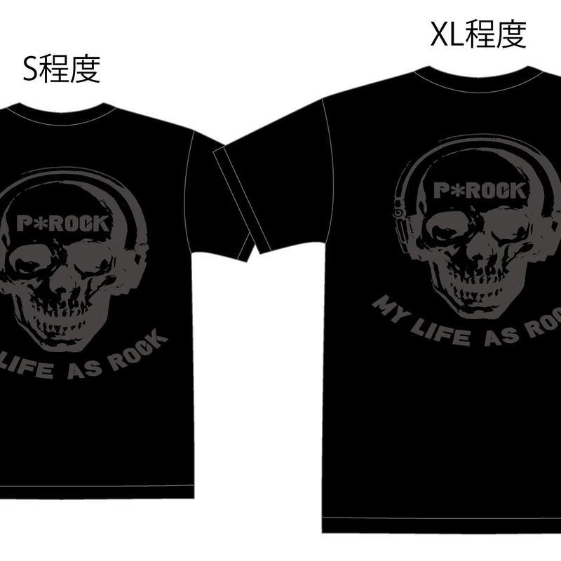 MY LIFE AS ROCK Tシャツ バックプリント