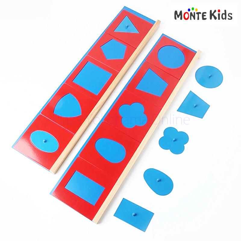 【MONTE Kids】MK-048   幾何図形パズル メタルインセッツ
