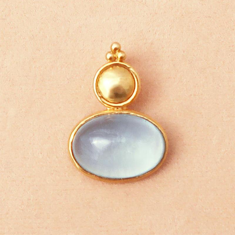 Wish { Pendant } aquamarine
