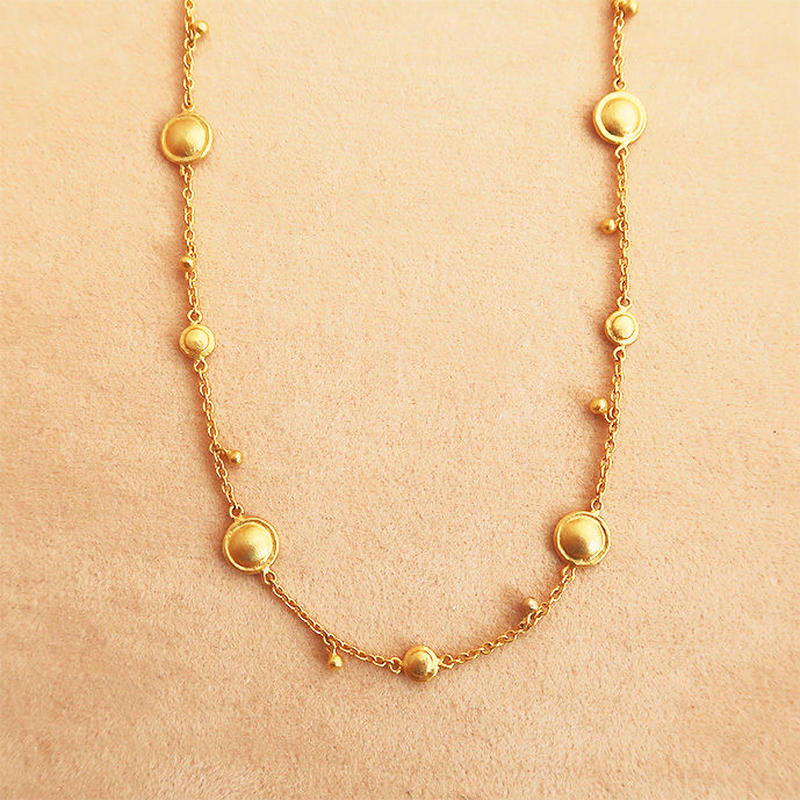 Shinti Plate rhythm  { Necklace } K18