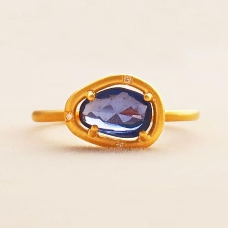 Soul Spring Ring  { Ring }  sapphire.  K18