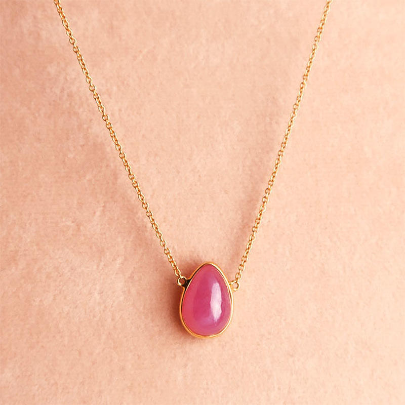 One Stone  { Necklace }   ruby. K18