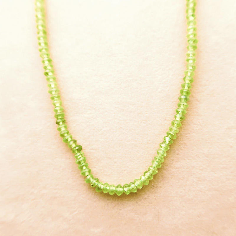 Simple Stone  { Necklace }  peridot