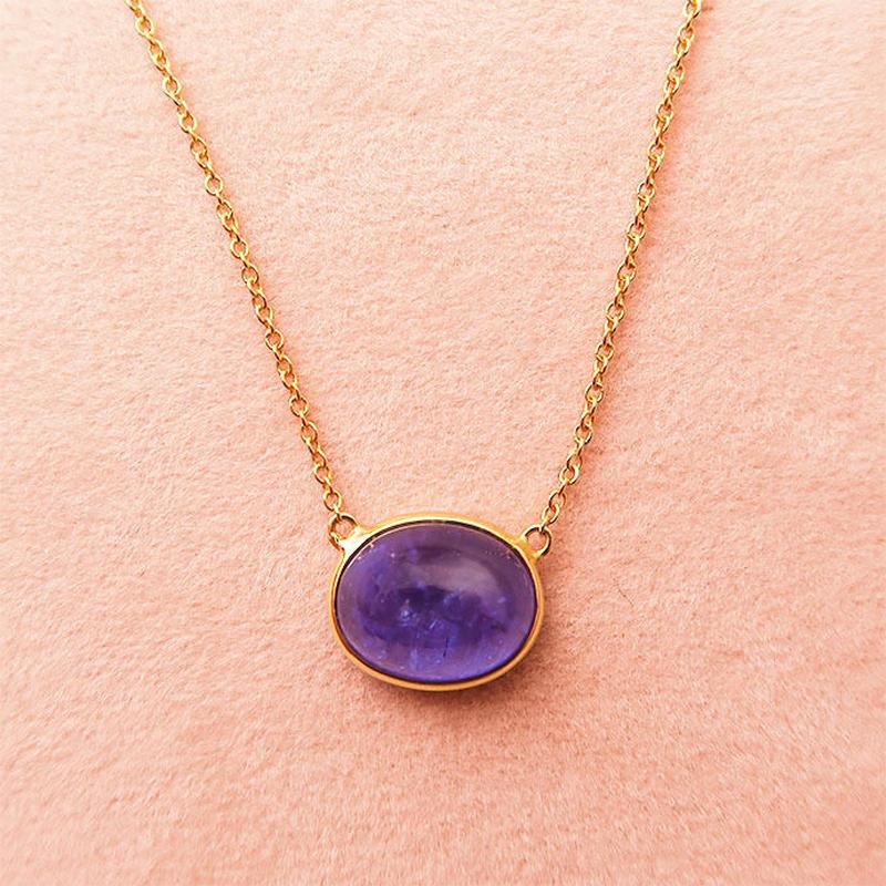 One Stone  { Necklace }   tanzanite. K18