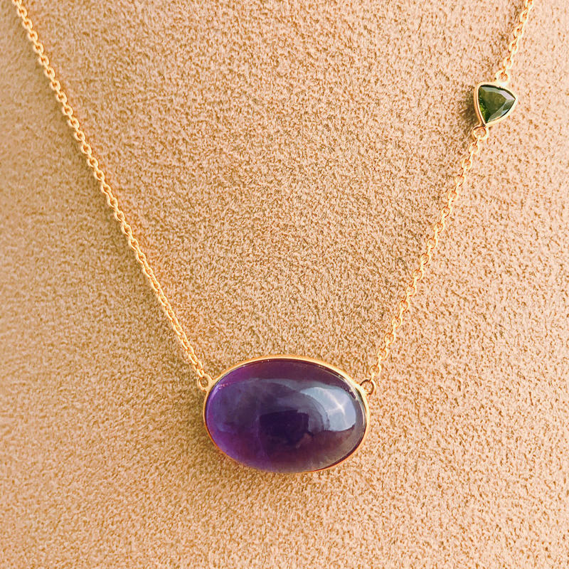 Lucky each other  { Necklace } amethyst