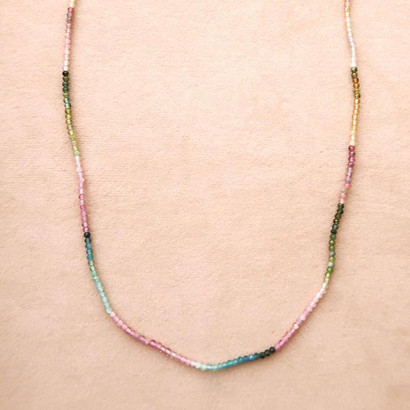 Simple Stone  { Necklace }   tourmaline