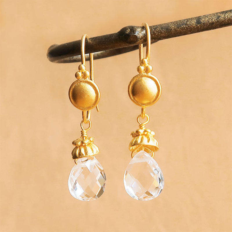 Petit Bell { Earrings } crystal