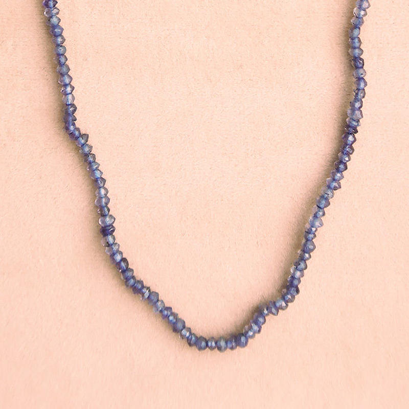 Simple Stone  { Necklace }  iolite