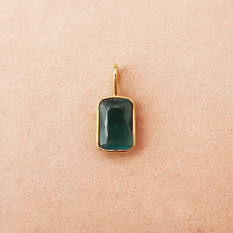 To be with you { Pendant } green tourmaline. K18