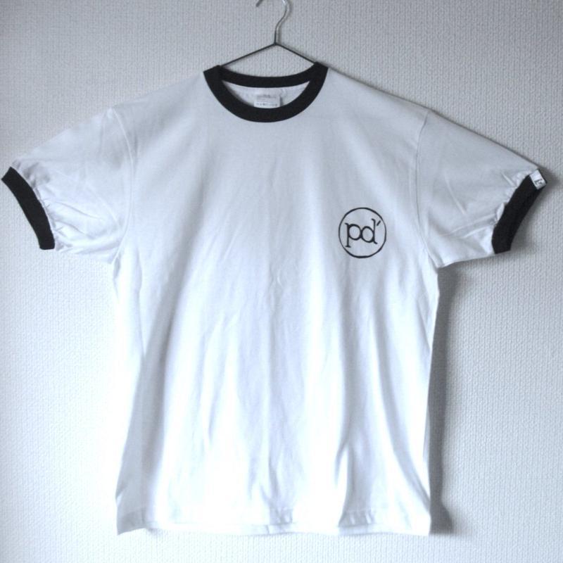 袖タグトリムTシャツpd'(XLワンサイズオンリー)
