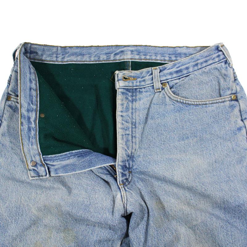 1990s L.L.Bean 5pkt Denim Pants w/wool lining