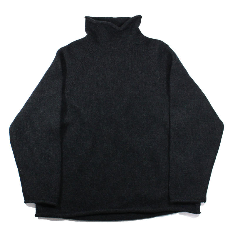1990s J.crew rollneck sweater (charcoal)