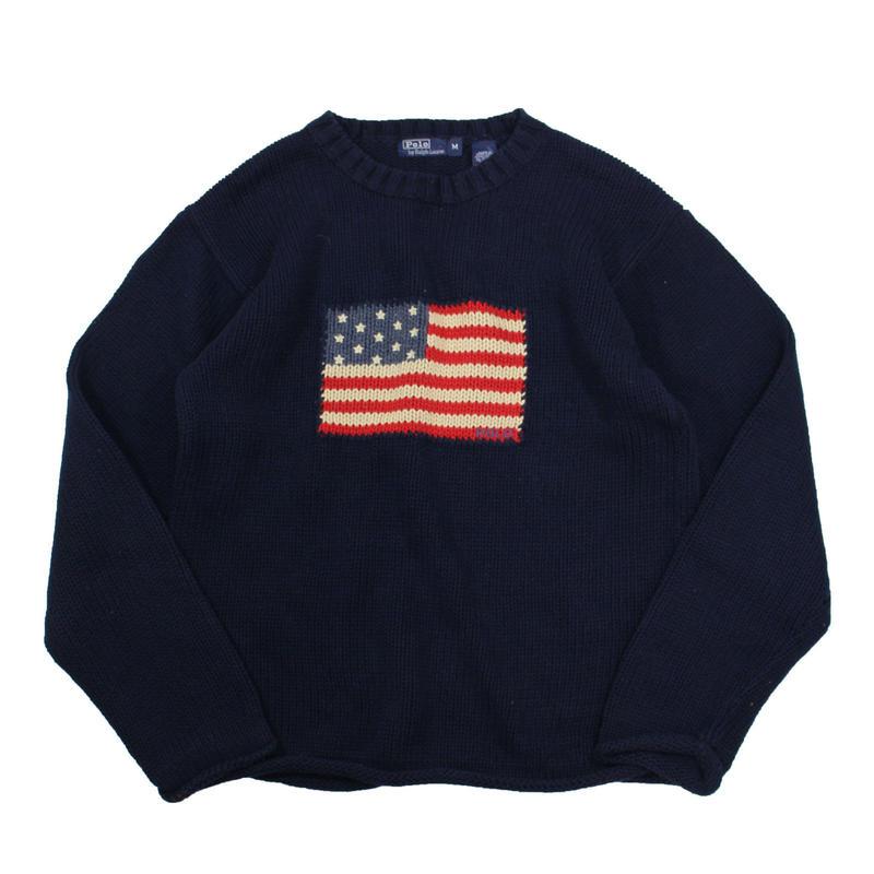 Boys M / POLO by Ralph Lauren stars&stripes cotton knit