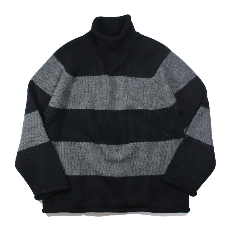 1990s J.Crew rollneck sweater (striped)