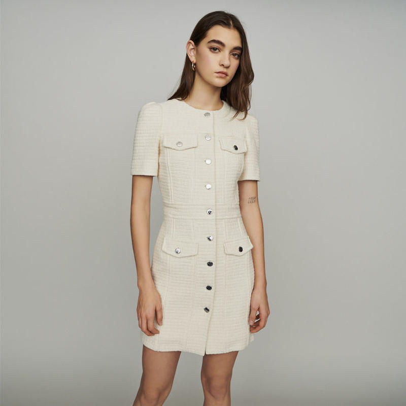 Maje マージュ Tweed style straight dress ワンピース 定価$445