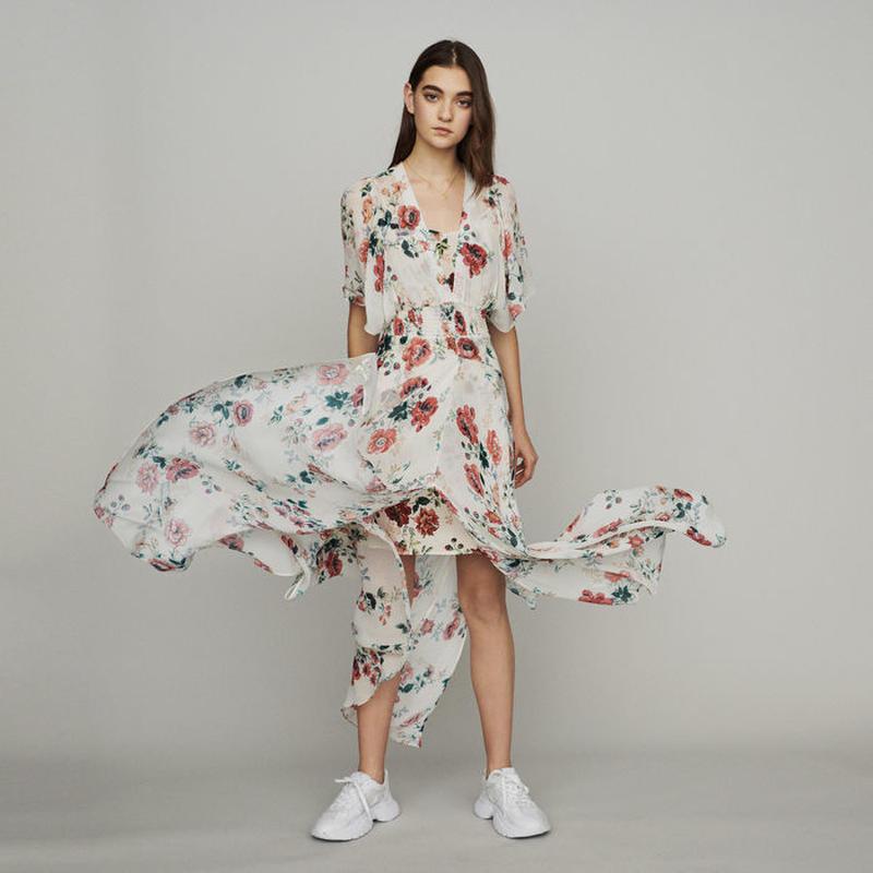 Maje マージュ Scarf dress in printed chiffonワンピース 定価$445