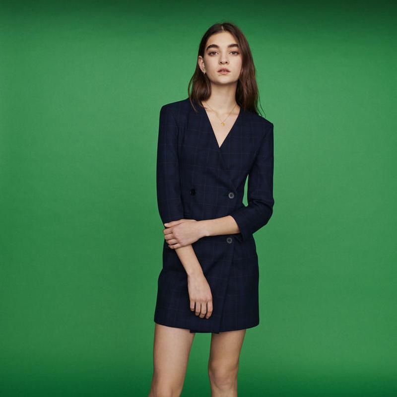 Maje マージュ Suit dress in plaid ワンピース 定価$445
