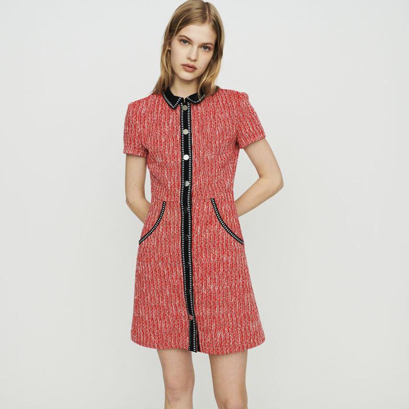 Maje マージュ Tweed-style dressワンピース 定価$415